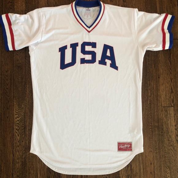 finest selection aae88 091f9 Rawlings Barstool USA Vintage Baseball Jersey